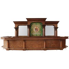 20th Century Back and Front Bar with Stained Glass