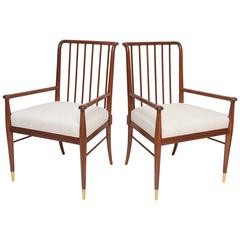Pair of Spindle back Armchairs by Stuart Clingman for Widdicomb