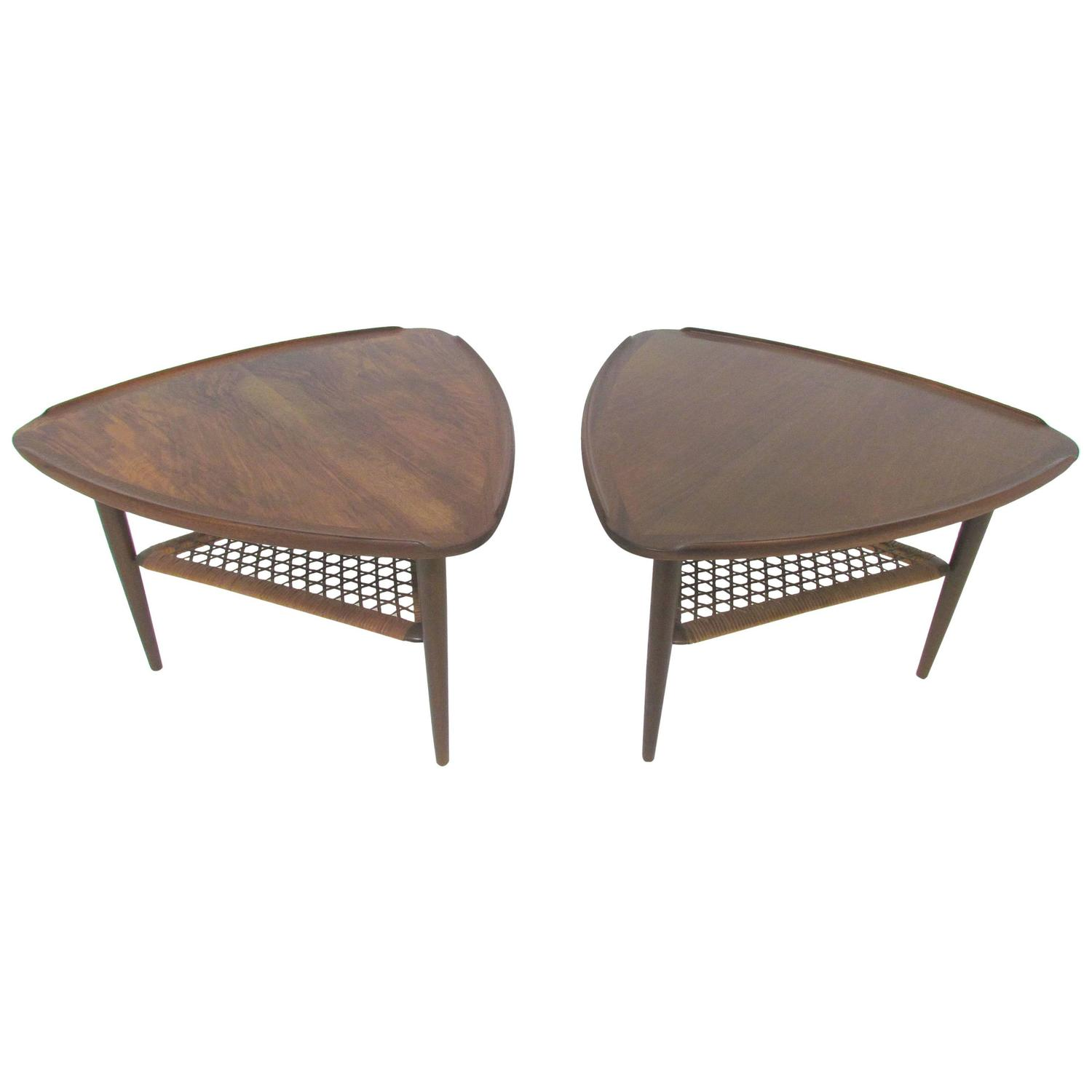 Pair of Danish Tripod Side Tables by Poul Jensen for CFC