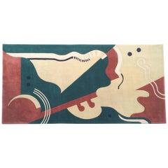 Virgin Wool Abstract Rug by Edward Fields