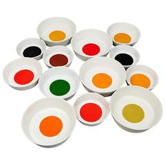 Collection of Colorful Bowls by Gio Ponti