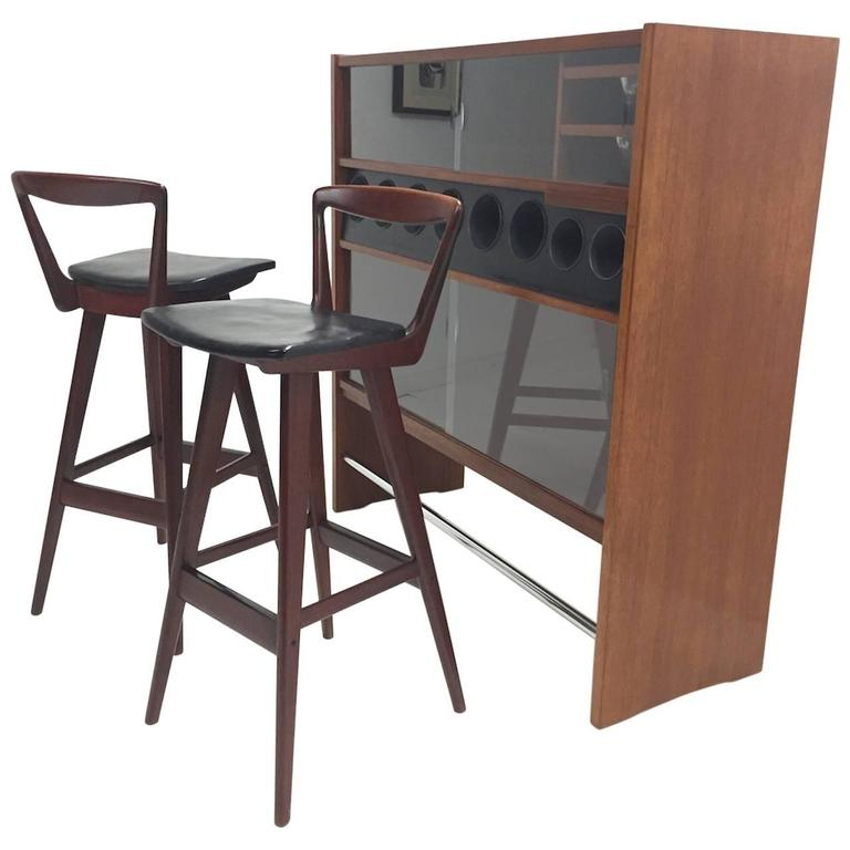 Danish Modern Teak Bar By Poul Heltborg Two Henry