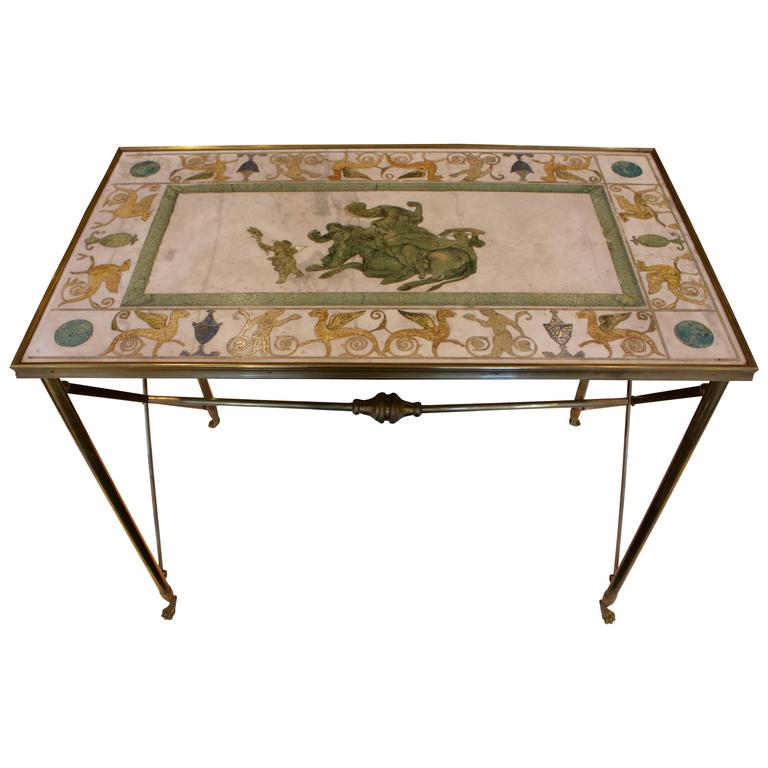 French coffee table with maison bagues scagliola top on a for Cocktail tables parts