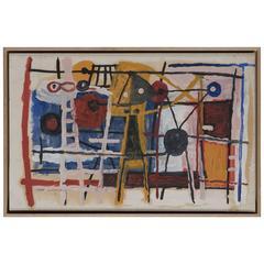 Albert Chubac, Oil on Cardboard, Signed, circa 1960, France.