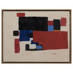 Albert Chubac, Oil on Cardboard, Signed, circa 1950, France.