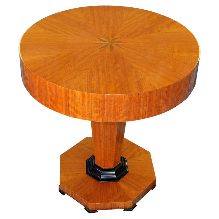 Tropical Olive Wood Pedestal Table by Gregg Lipton