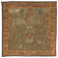 19th Century Aubusson Tapestry, French Wall Hanging, Fine, Silk and Wool