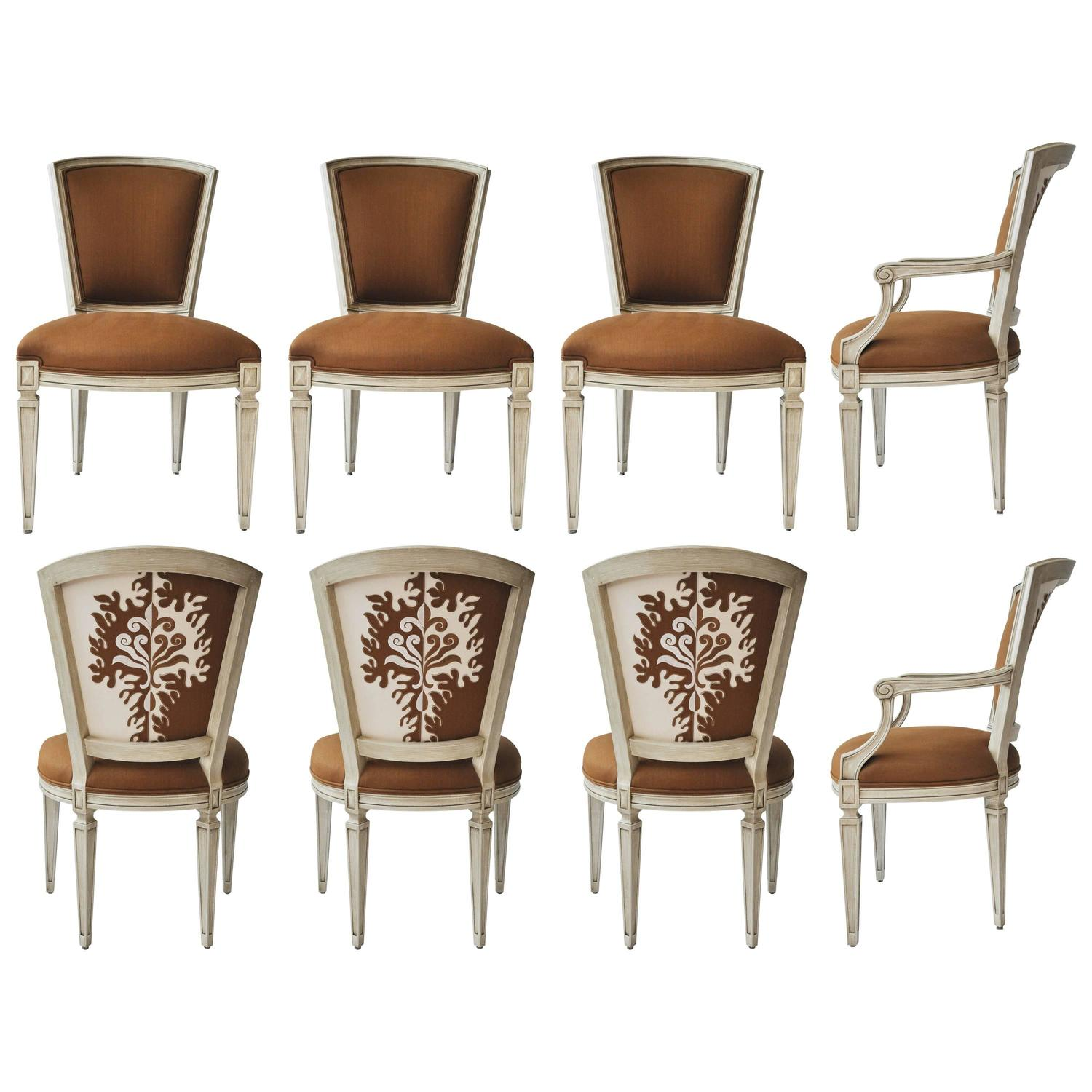 Set Of Eight William Switzer Louis XVI Style Dining Chairs At 1stdibs