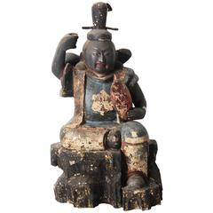 Rare Antique Japanese Statue of Ebisu