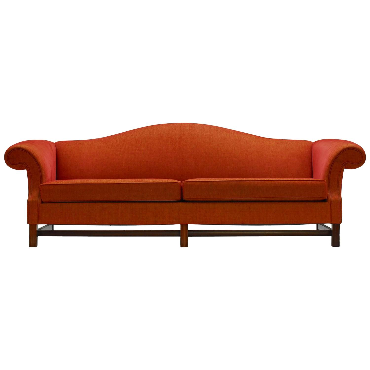 Contemporary Camel Back Sofa At 1stdibs
