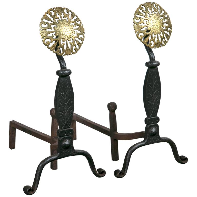 Cast Iron Andirons At 1stdibs