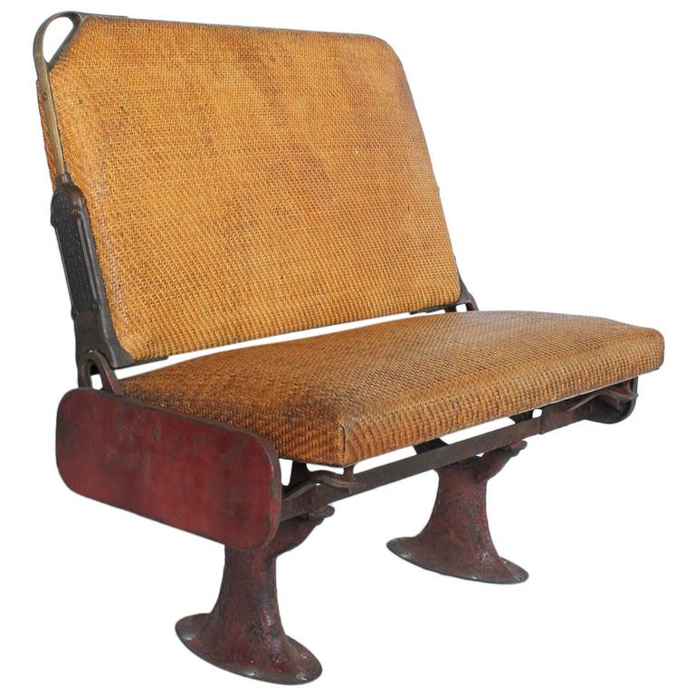 Antique Train Bench By The Hale And Kilburn Company For