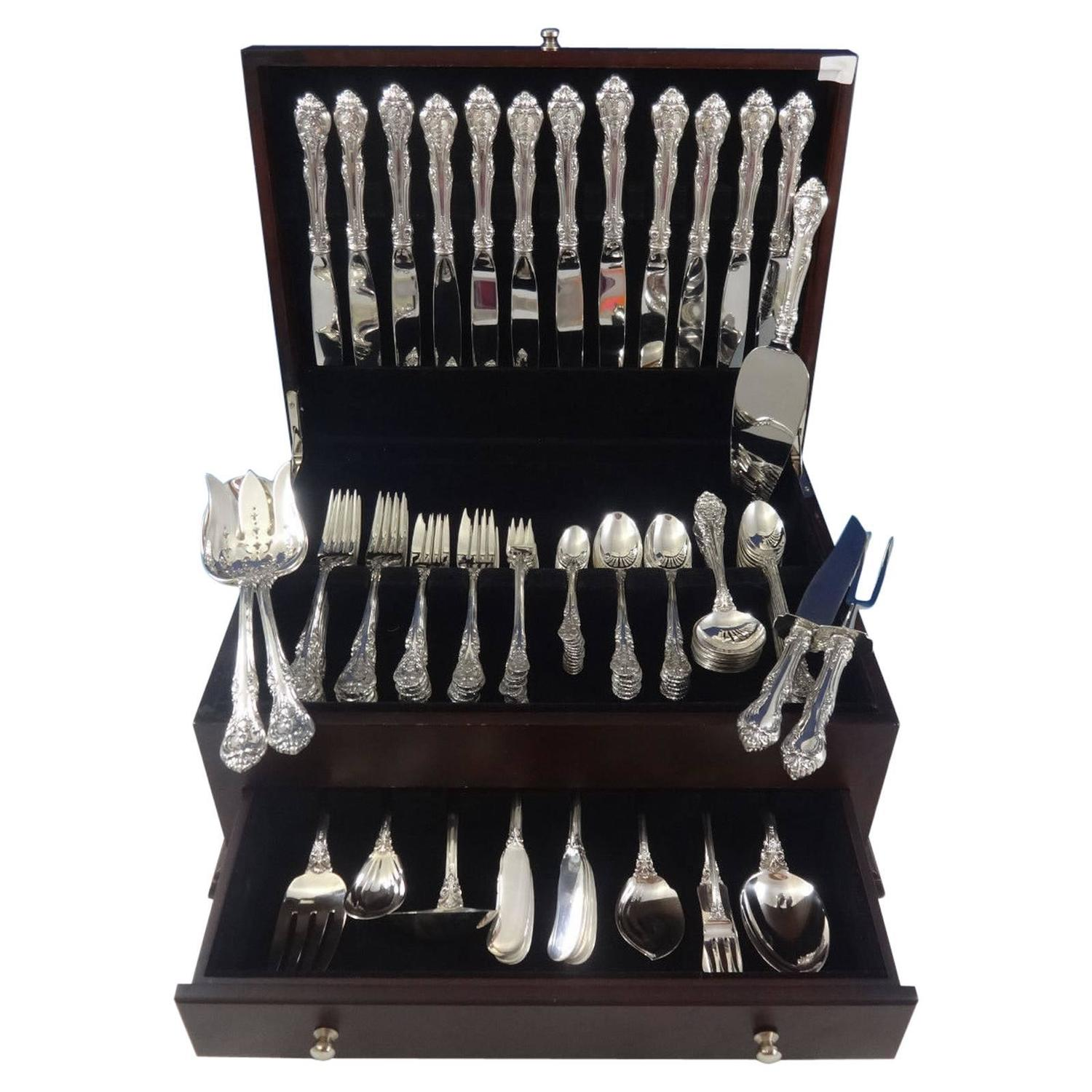 King Edward By Gorham Sterling Silver Flatware Service For