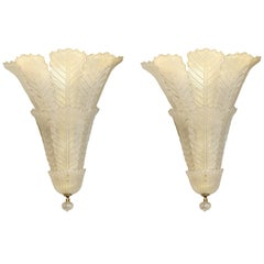 Pair of Mid-century Murano Italian Wall Sconces