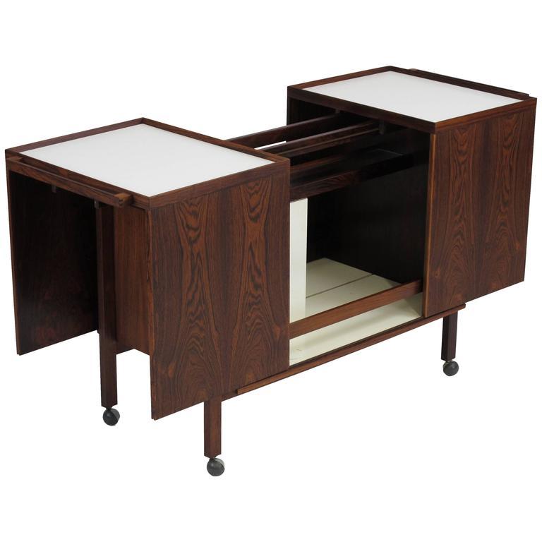 Midcentury Danish Rosewood Bar Cabinet by Niels Erik Glasdam Jensen