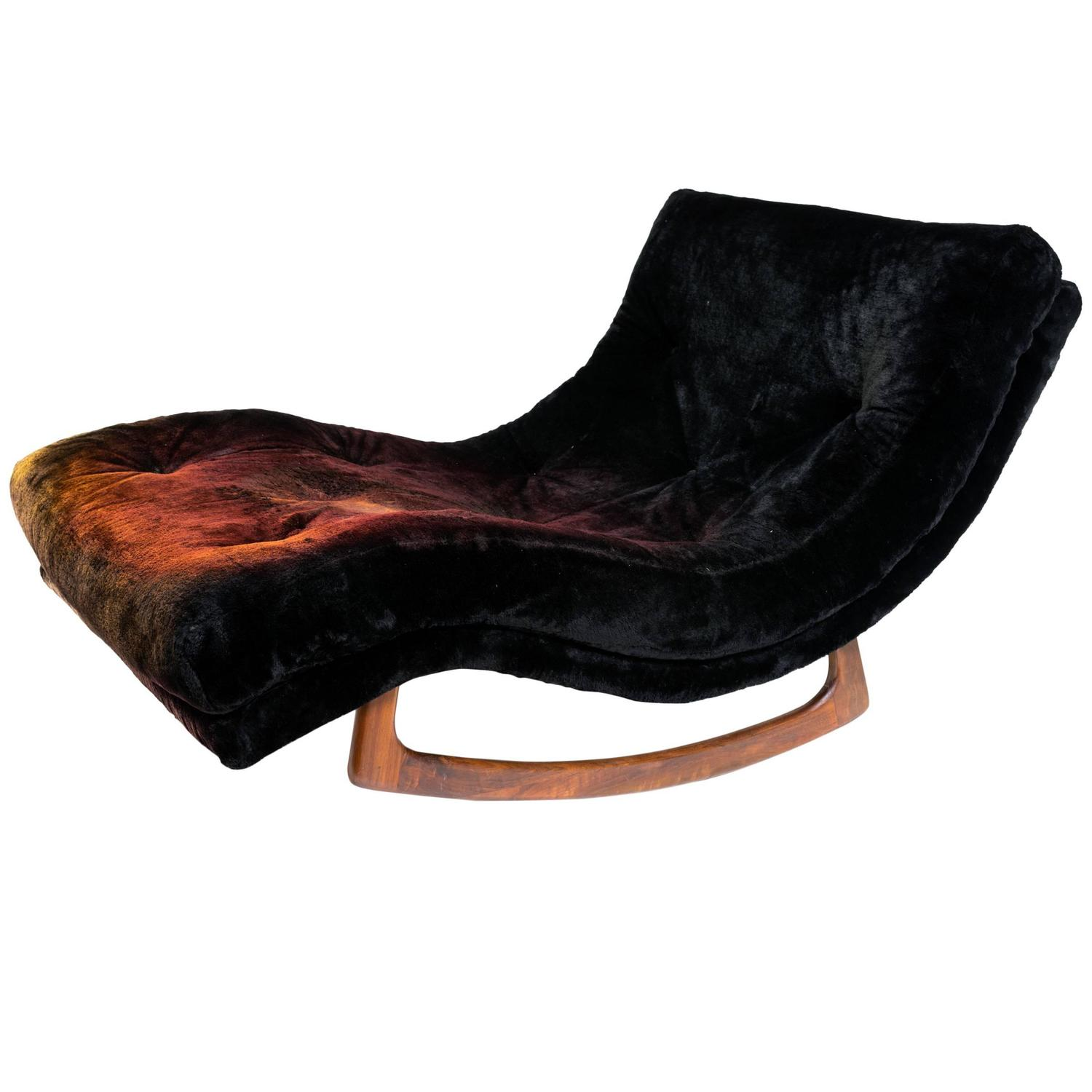 adrian pearsall wave chaise rocker for craft at 1stdibs. Black Bedroom Furniture Sets. Home Design Ideas