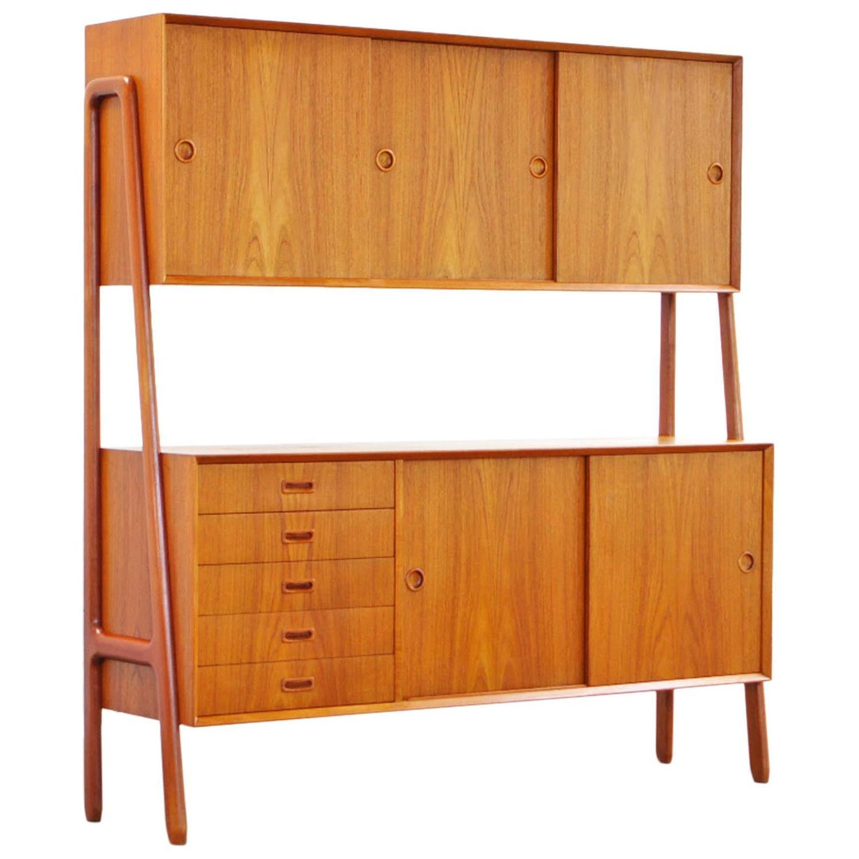 Teak Buffet by Gunni Omann No. 18 Cabinet, Danish Modern, 18s at ...