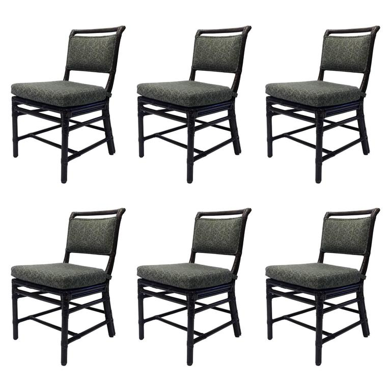 ratan dining chairs by mcguire set of six at 1stdibs