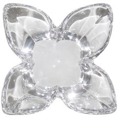 Scandinavian Crystal Lotus Bowl by Designer Lars Hellsten