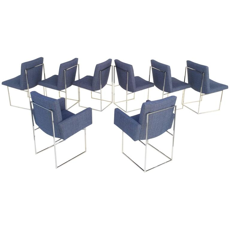 """Set of Eight """"Thin Line"""" Dining Chairs by Milo Baughman for Thayer Coggin"""