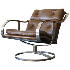 Gardner Leaver for Steelcase Leather Lounge Chair