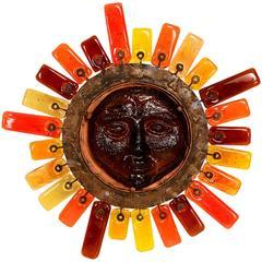 Feders Handblown Glass Sun Wall Sconce