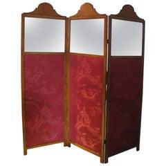 Edwardian Satinwood Folding Screen