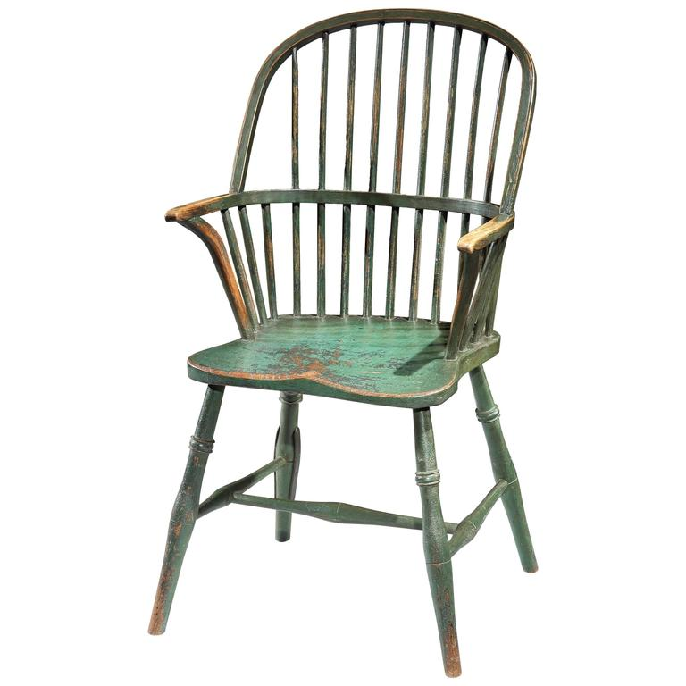 West Country Bow Back Windsor Armchair 19th Century At