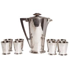 Ile de France Meriden International Silver Cocktail Set with Eight Cups, # 360