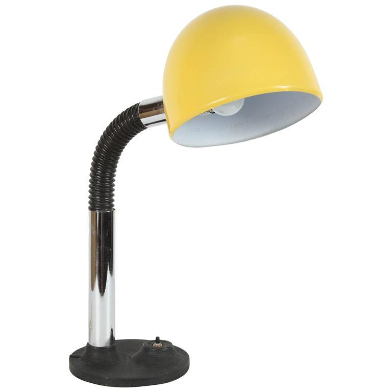 Modernist Enameled Yellow Desk Lamp