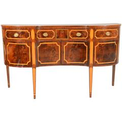 Period American Federal Sideboard in Mahogany with Tiger Maple Inlay