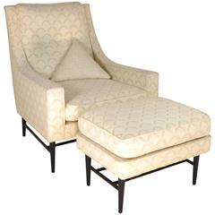 Paul McCobb Lounge Chair and Ottoman