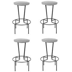 Set of Four Bar Stools by Frederick Weinberg