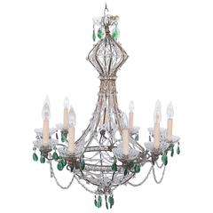 Whimsical Venitian Beaded Chandelier