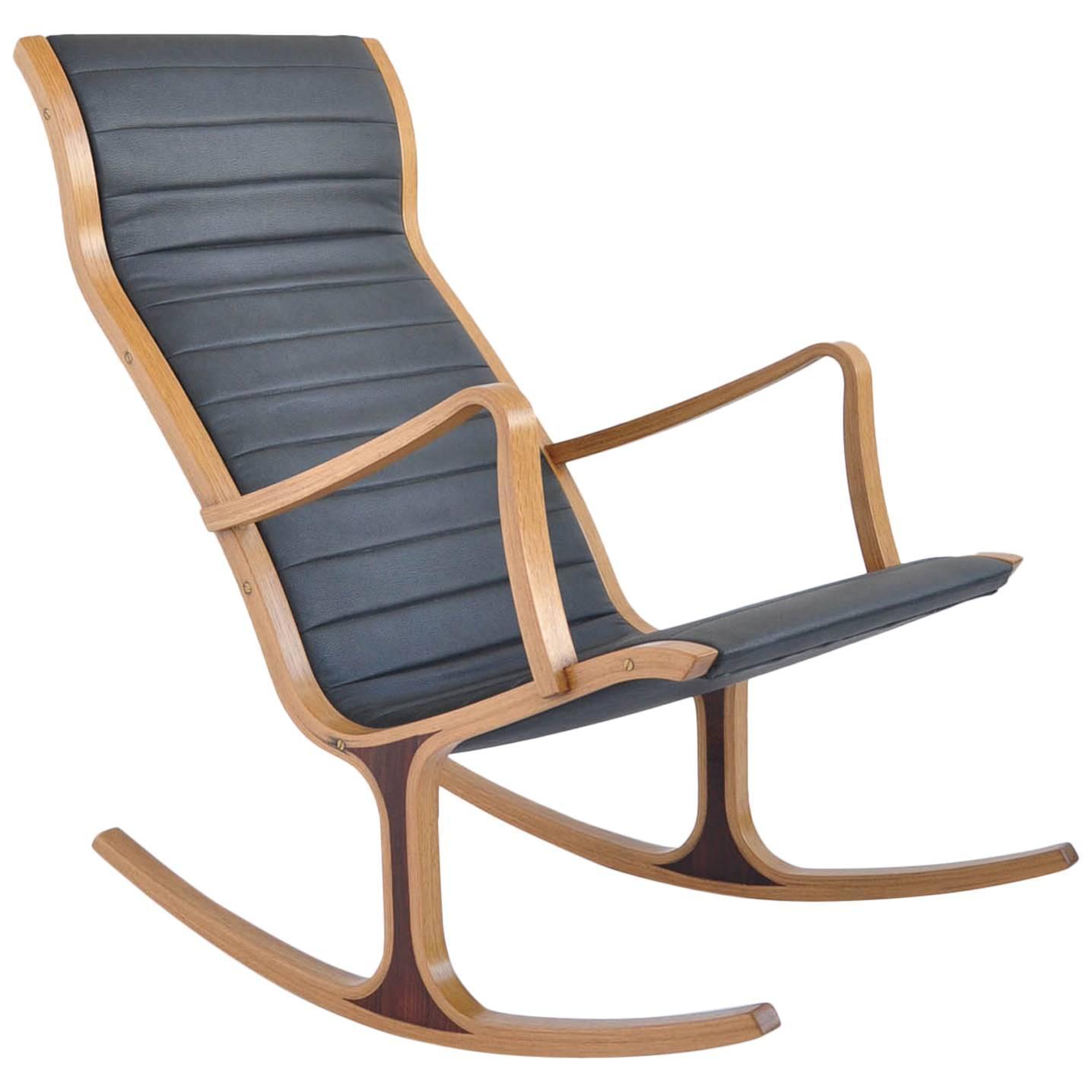 Bent Oak Quot Heron Quot Rocking Chair By Mitsumasa Sugasawa For