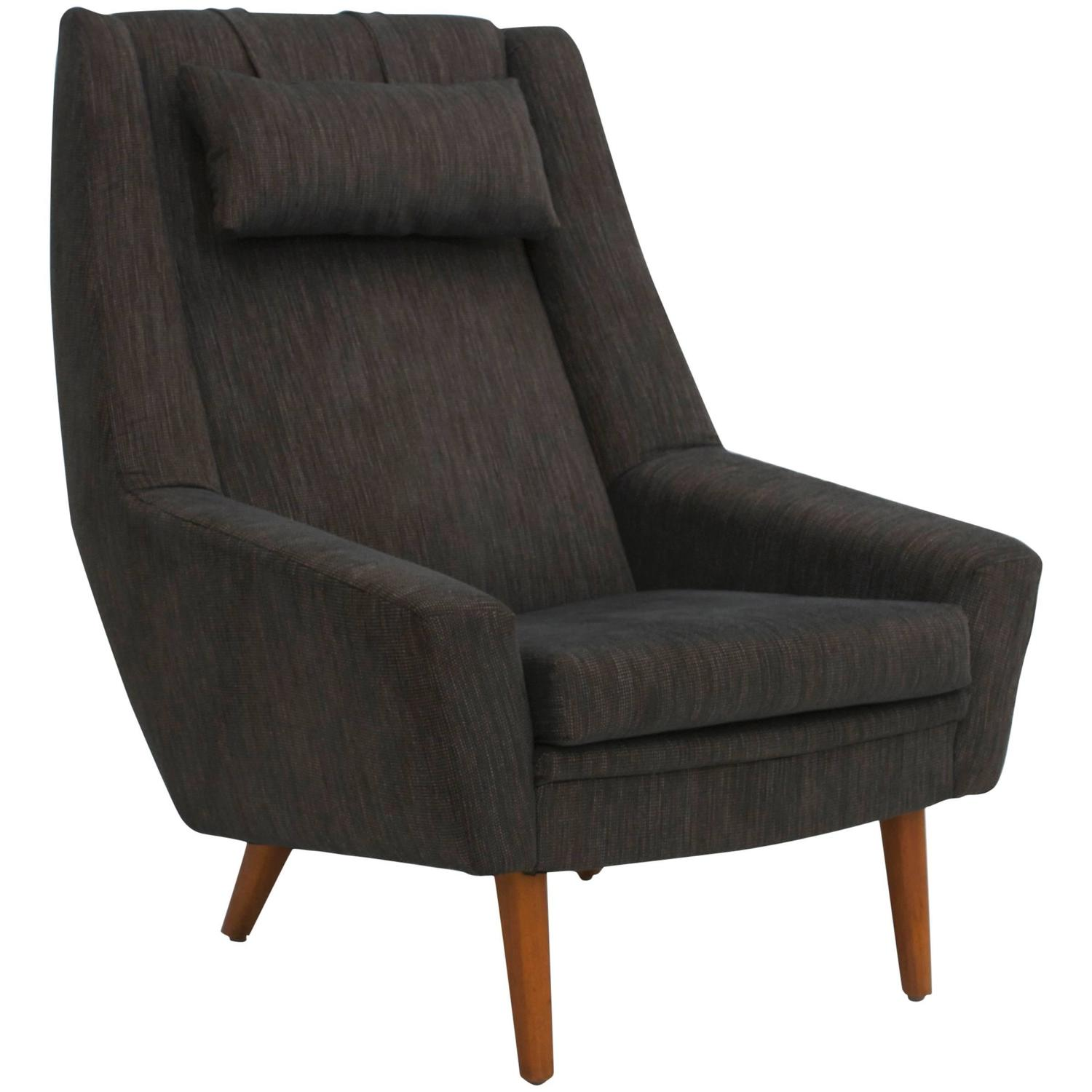 Scandinavian modern high back lounge chair at 1stdibs - Scandinavian chair ...