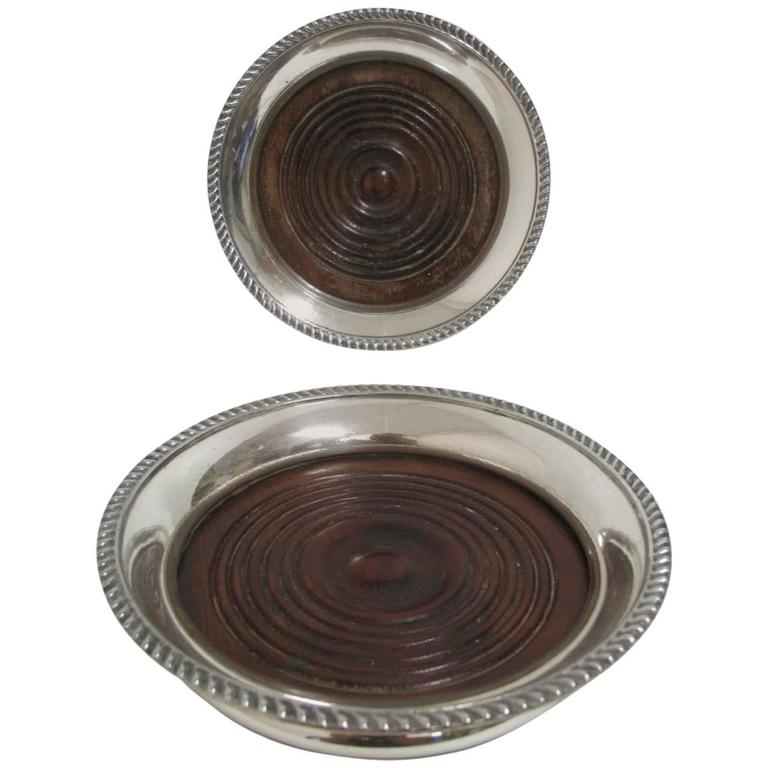 Pair Of Antique Sheffield Wine Coasters For Sale At 1stdibs