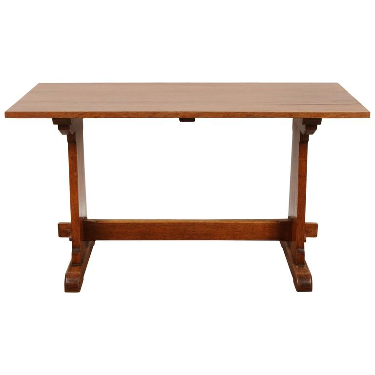English Oak Arts and Crafts Table