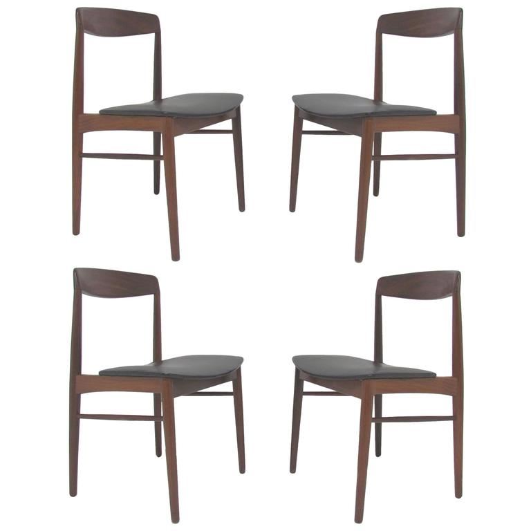 Set of Four Danish Teak Dining Chairs by SAX circa 1960s at 1stdibs