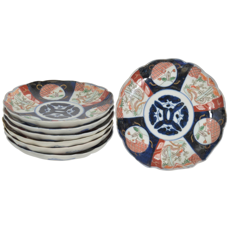 Set of Seven Imari Plates