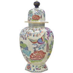 Mason's Ironstone Lidded Vase