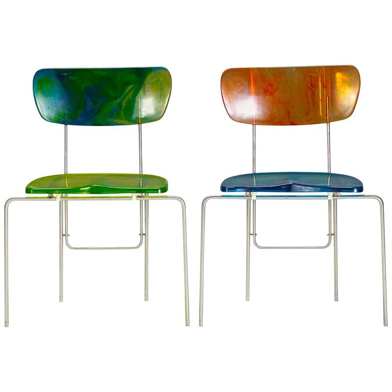 "Two ""Broadway"" Chairs by Gaetano Pesce 1"