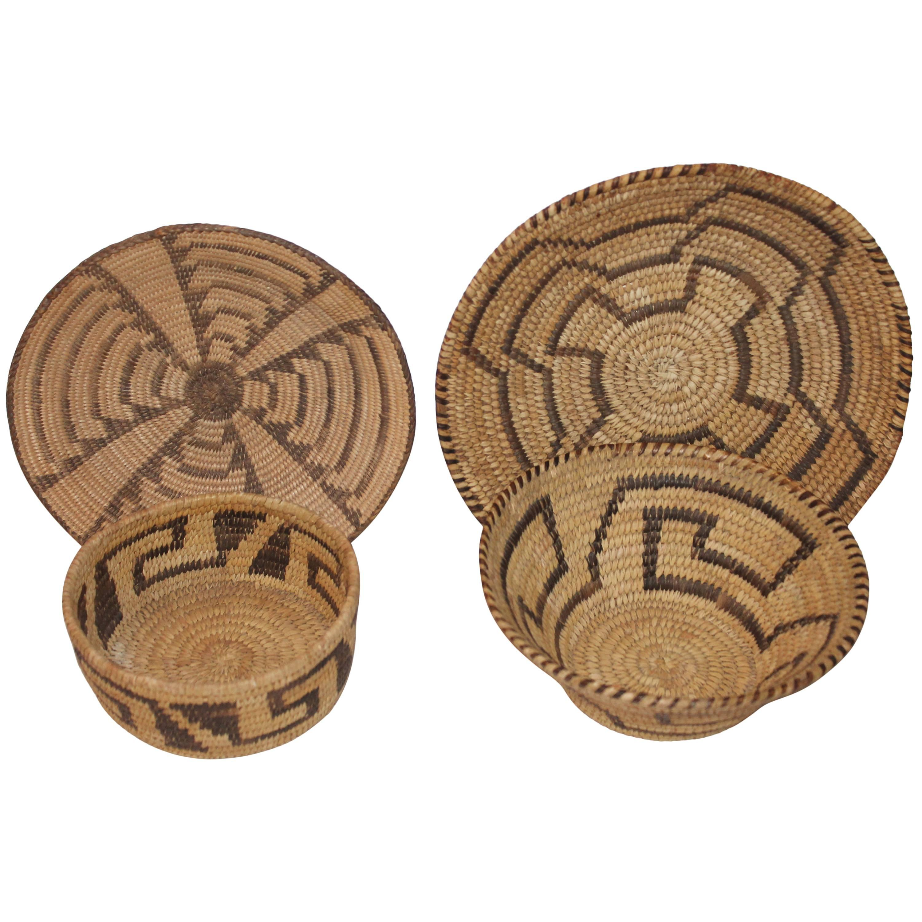 Collection of Four Papago & Pima  Indian Baskets