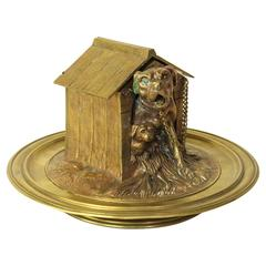 Late 19th Century French Bronze Inkwell