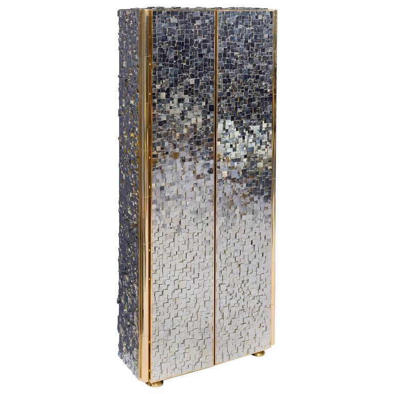 Refined Pyrite Cabinet by Kam Tin For Sale