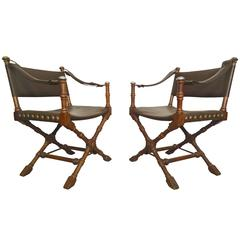 Safari Style Chairs by Drexel