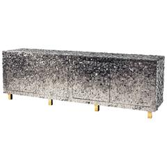 Important Pyrite Floating Cabinet by Kam Tin