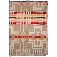 Early Wool Pendleton Indian Design Camp Blanket
