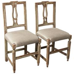 Pair of Neoclassical Italian Side Chairs