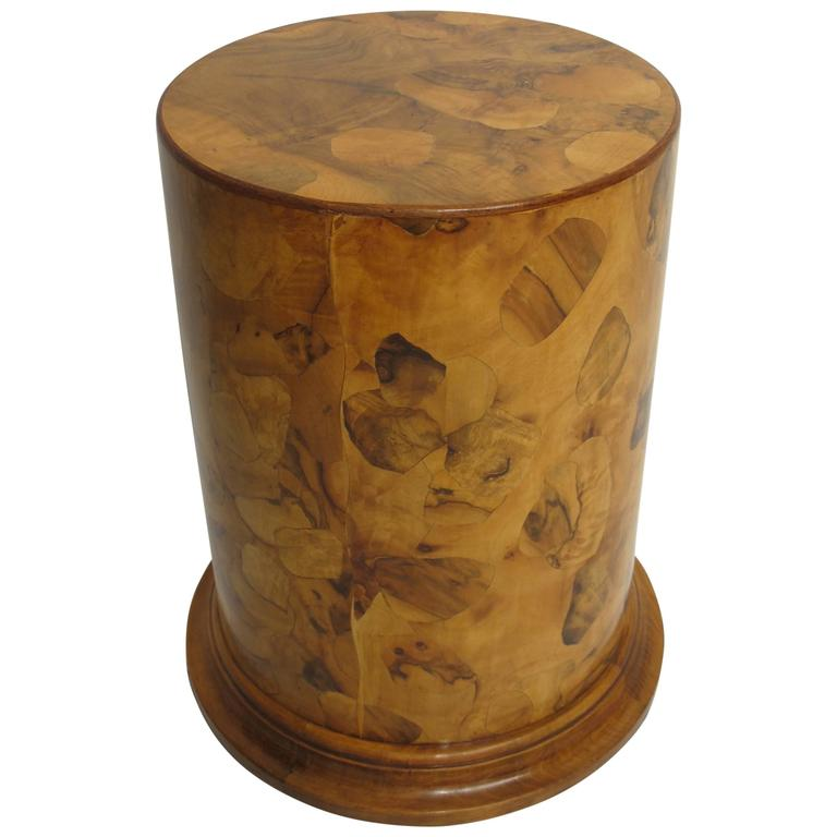 italian fruitwood pedestal side table or plant stand 1